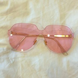 Accessories - Clear Pink Sunglasses
